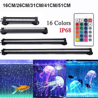 Aquarium Light LED 16- 51CM 5050 RGB Waterproof  Remote Control Lamp