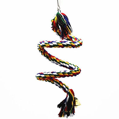 Swinging Bungee Rope For Medium Parrots Conures Budgies