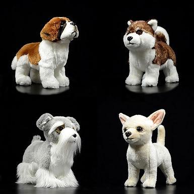 Dog Plush Life like Chihuahua Alaskan Malamute Saint Bernard Stuffed Toy