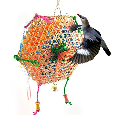 Bamboo Woven Parrot  Shredder  Foraging Toy