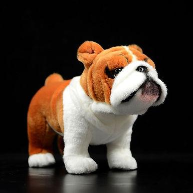 Bulldog Plush Toy Realistic Standing Dogs Stuffed Animal