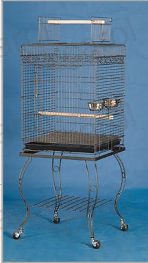 Metal Large Bird Parrot Cage Open Top With Stand ( 20x20x57')'