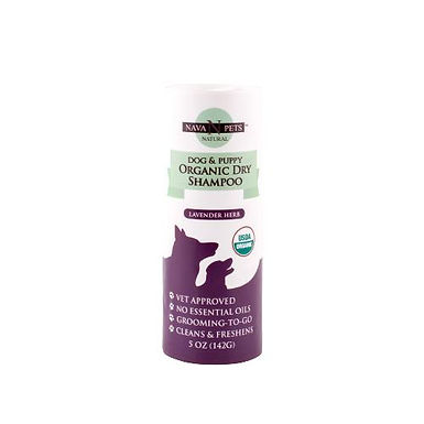 Organic Dry Dog & Puppy Shampoo, Lavender Herb 5OZ
