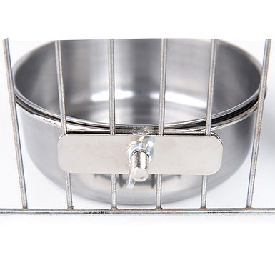 Parrot Bird Anti-Turnover Stainless Steel Food Bowl