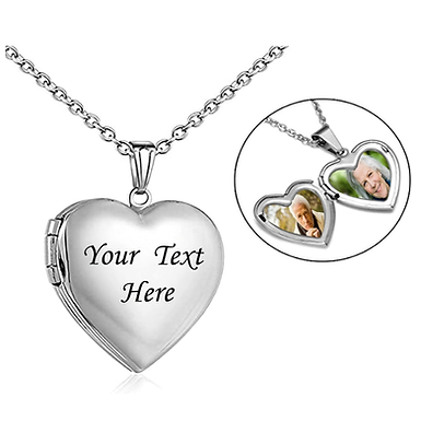 Stainless Steel Heart Pet Memorial Necklaces Customized