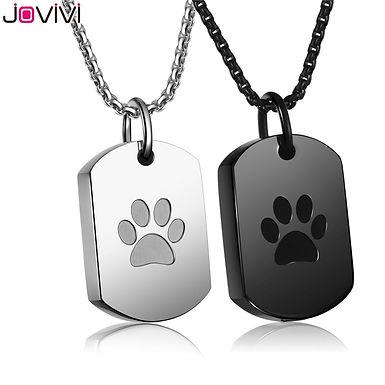 Pet Memorial Dog Tag Necklace Ash Holder