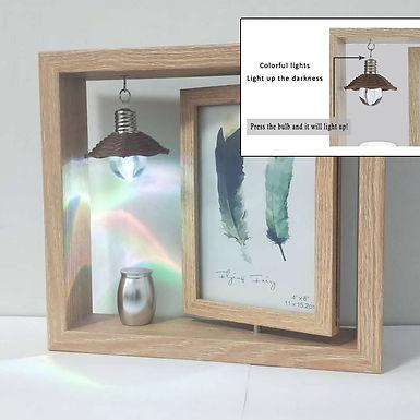 Photo Frame  & Mini Size Cremation Urn  Keepsake,