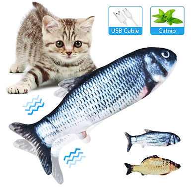 USB Electric Wagging Simulation Fish Toys for Cats