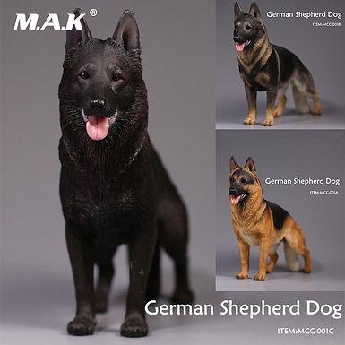 German Shepherd Dog  Model  Action Figure Three Colors