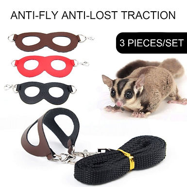 Adjustable Soft  Durable Harness Leash For Hamsters Lizards Small Animals