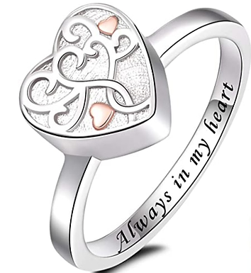 Cremation Urn Ring  Perfect Keepsake Gifts Memorial Jewelry Hold Ashe