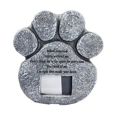 Pet Loss Memorial Stone Paw Print Photo Frame