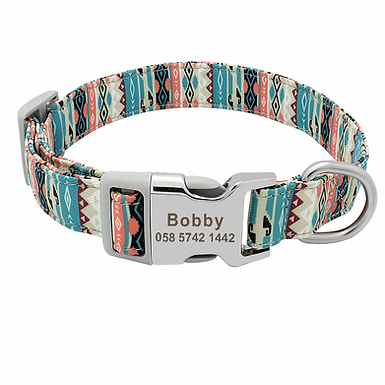 Custom  Made Engraved Floral Collar