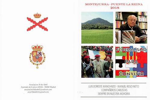 Montejurra 2017: Acto de homenaje a Manuel Rego y Luis Doreste