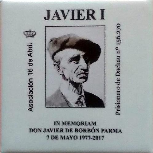 Chapa 40º aniversario del fallecimiento de Don Javier en el exilio