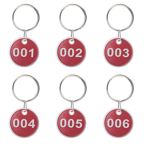 ALUMINUM ROUND NUMBERED FOBS