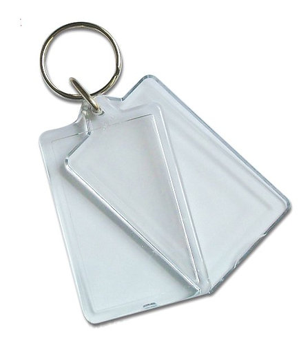 SP27  Clearview Keyring - 50mm x 30mm **RE-OPENABLE**