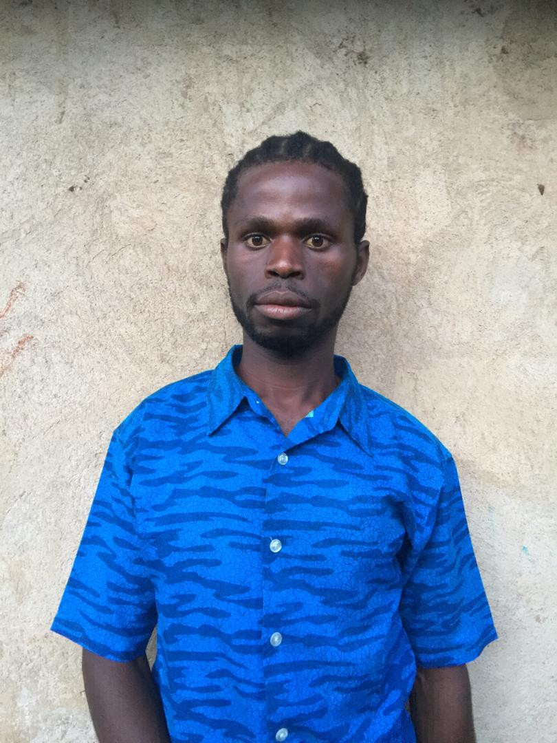 Mark Emilio, a Kyangwali Refugee settlement local artist aka Young Scorpion.