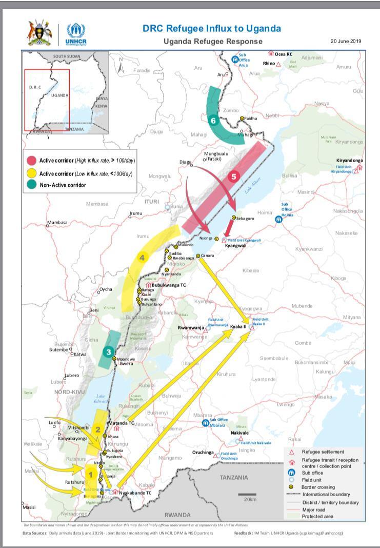 Congolese Refugees fleeing via western Uganda to seek asylum Asylum.