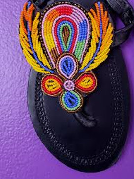 Kenyan Beaded Slippers
