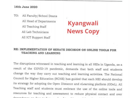 KYAMBOGO TO ADOPT ONLINE TEACHING