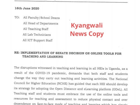 KYAMBOGO TO ADOPT ONLINE TEACHING