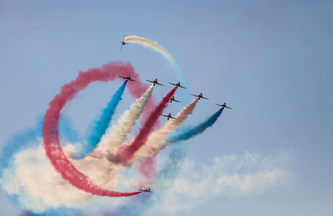 Red arrows, pirouette