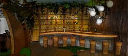 Restaurant design 3D rendering