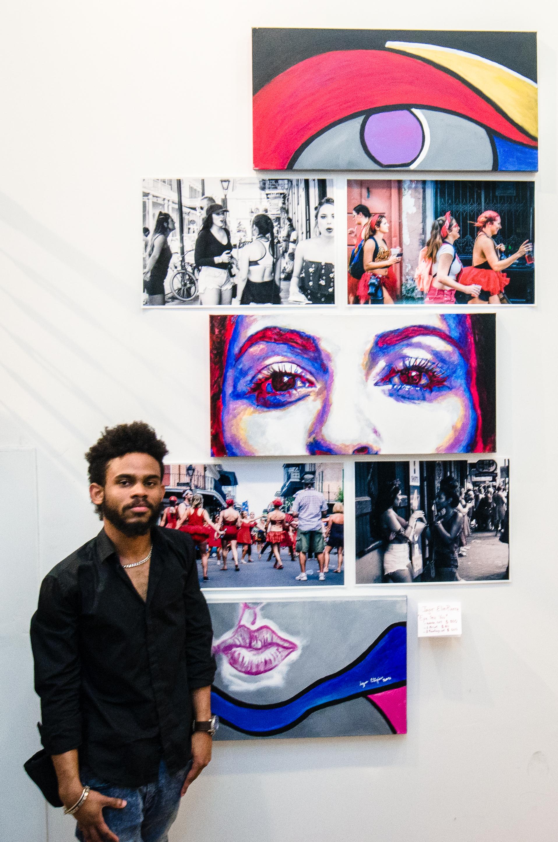 Igor at his exhibit in Toronto