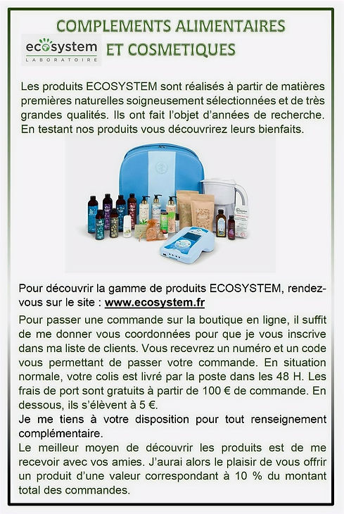 Complements Alimentairs-ECOSYSTEM