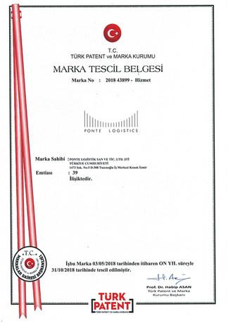 MARKA TESCİL BELGESİ