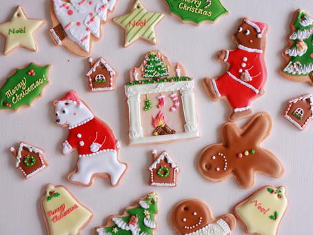 COOKIE ART PARTYオリジナル、シュガーペーストのクリスマスオーナメント販売