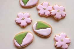 桜餅アイシングクッキー