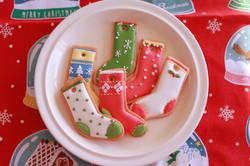 クリスマスの靴下アイシングクッキー