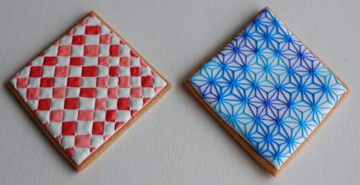 和柄のアイシングクッキー