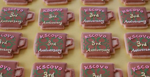 KSCOVO様3周年記念クッキー