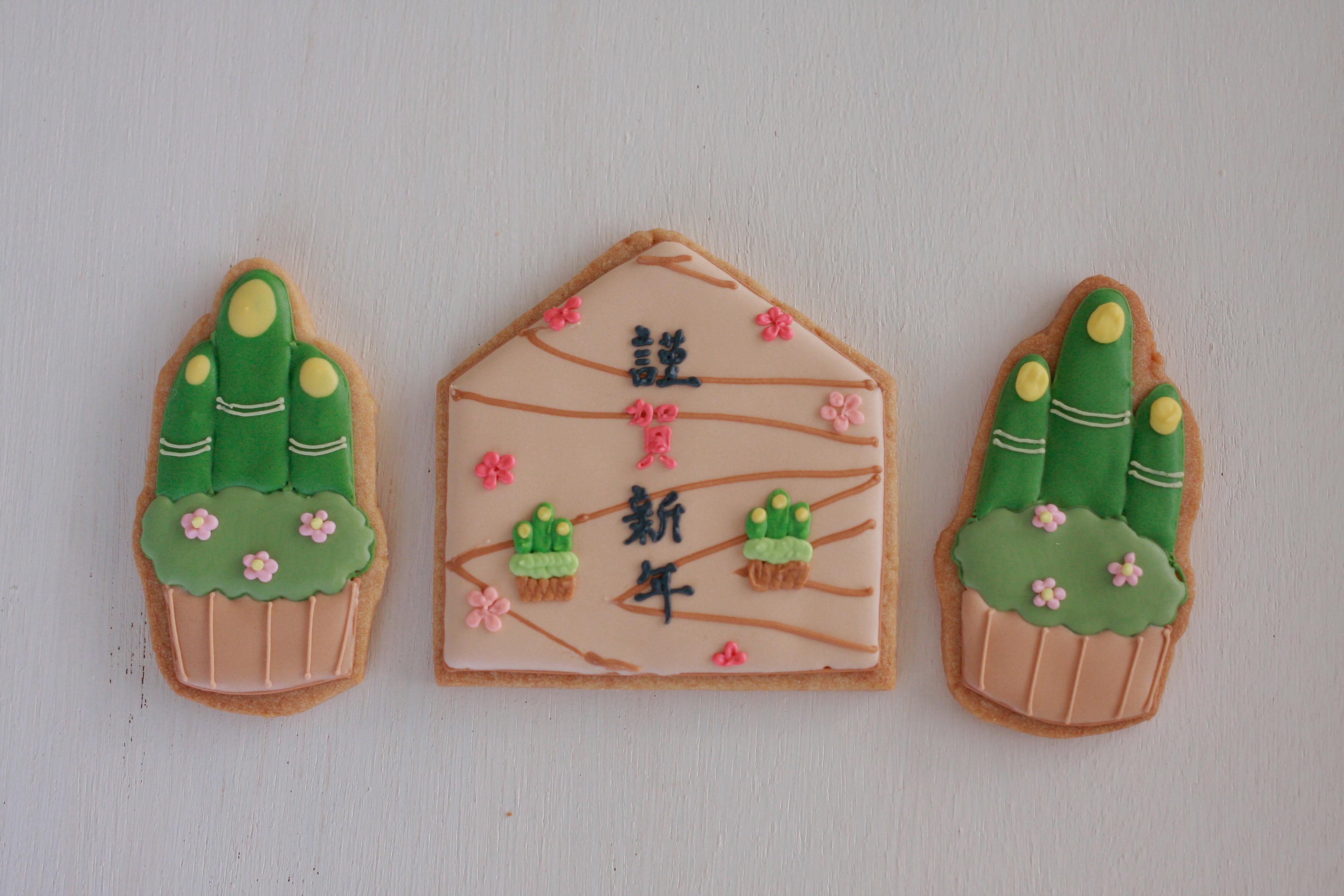 お正月のアイシングクッキー