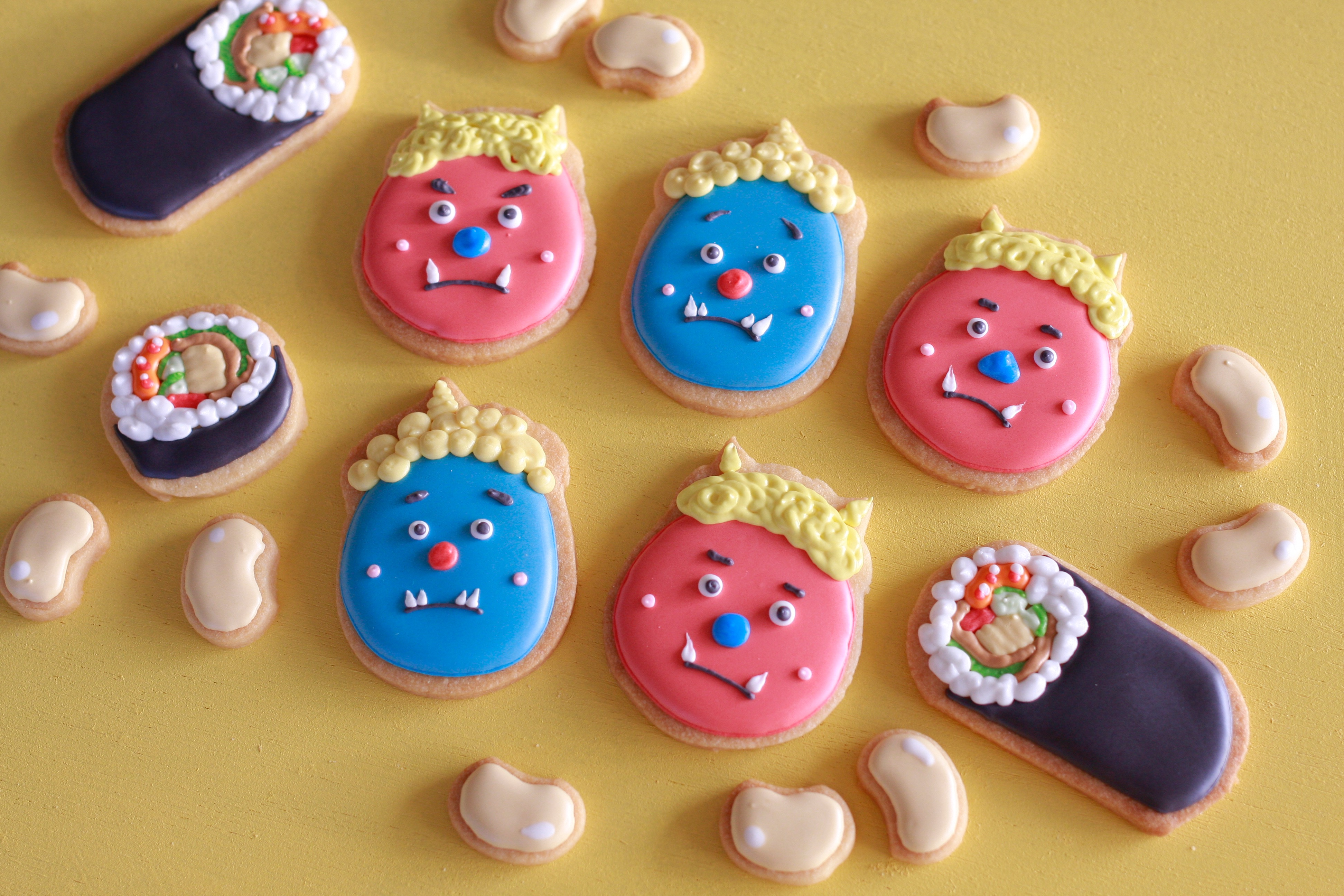 節分のアイシングクッキー
