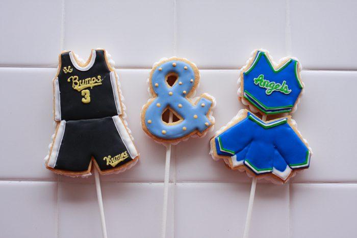 ユニフォームのアイシングクッキー