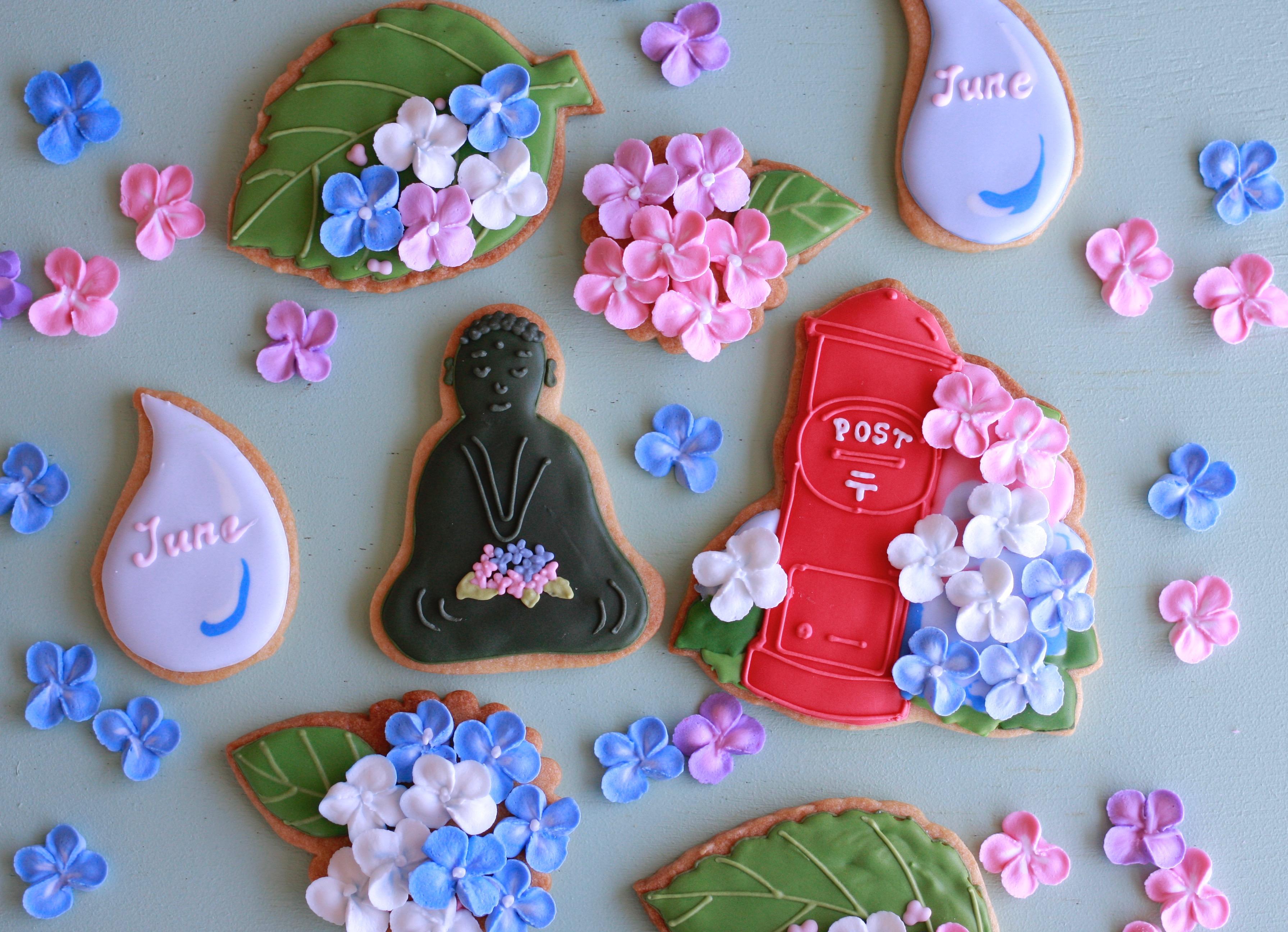 梅雨のアイシングクッキー