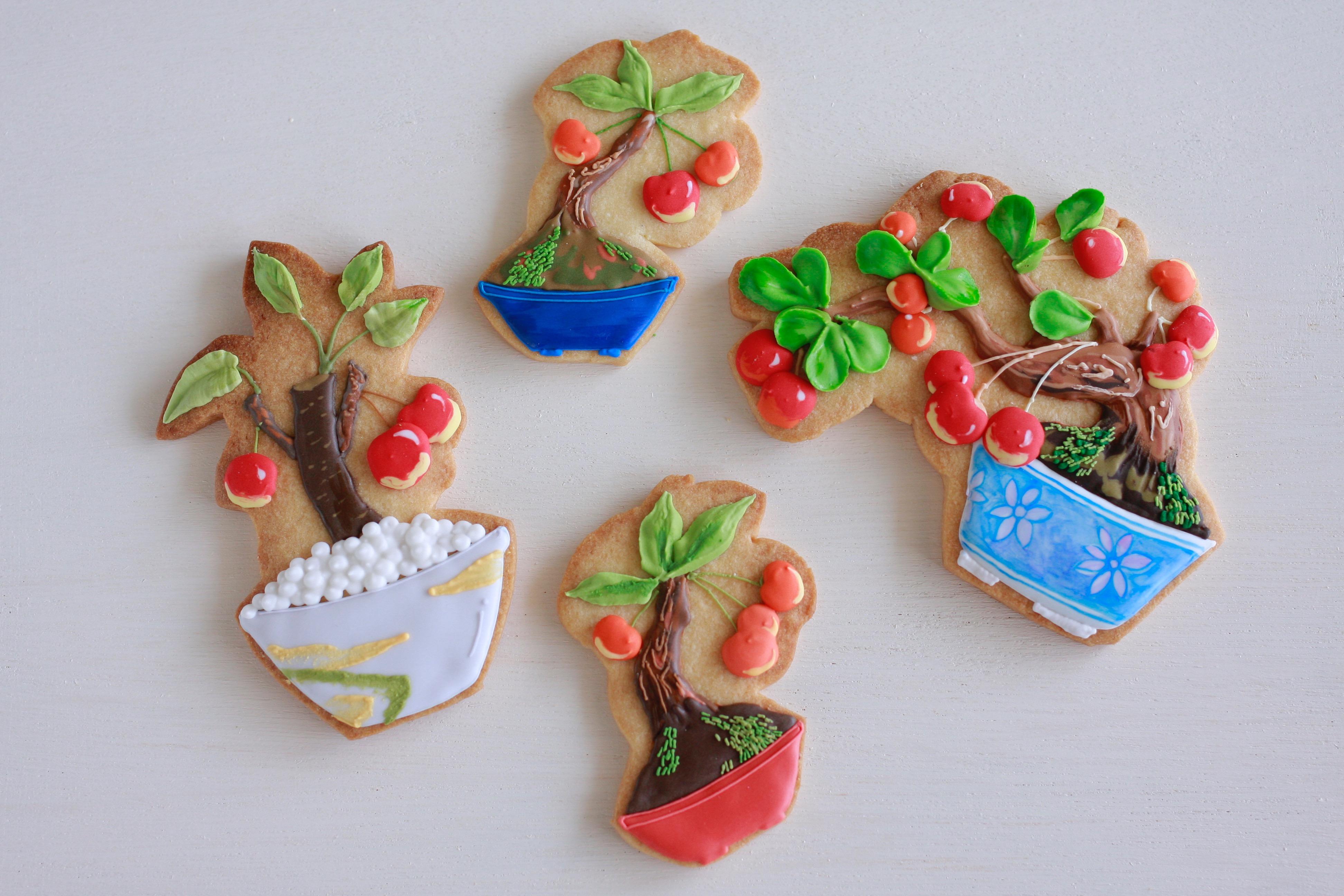 盆栽アイシングクッキー(実物)
