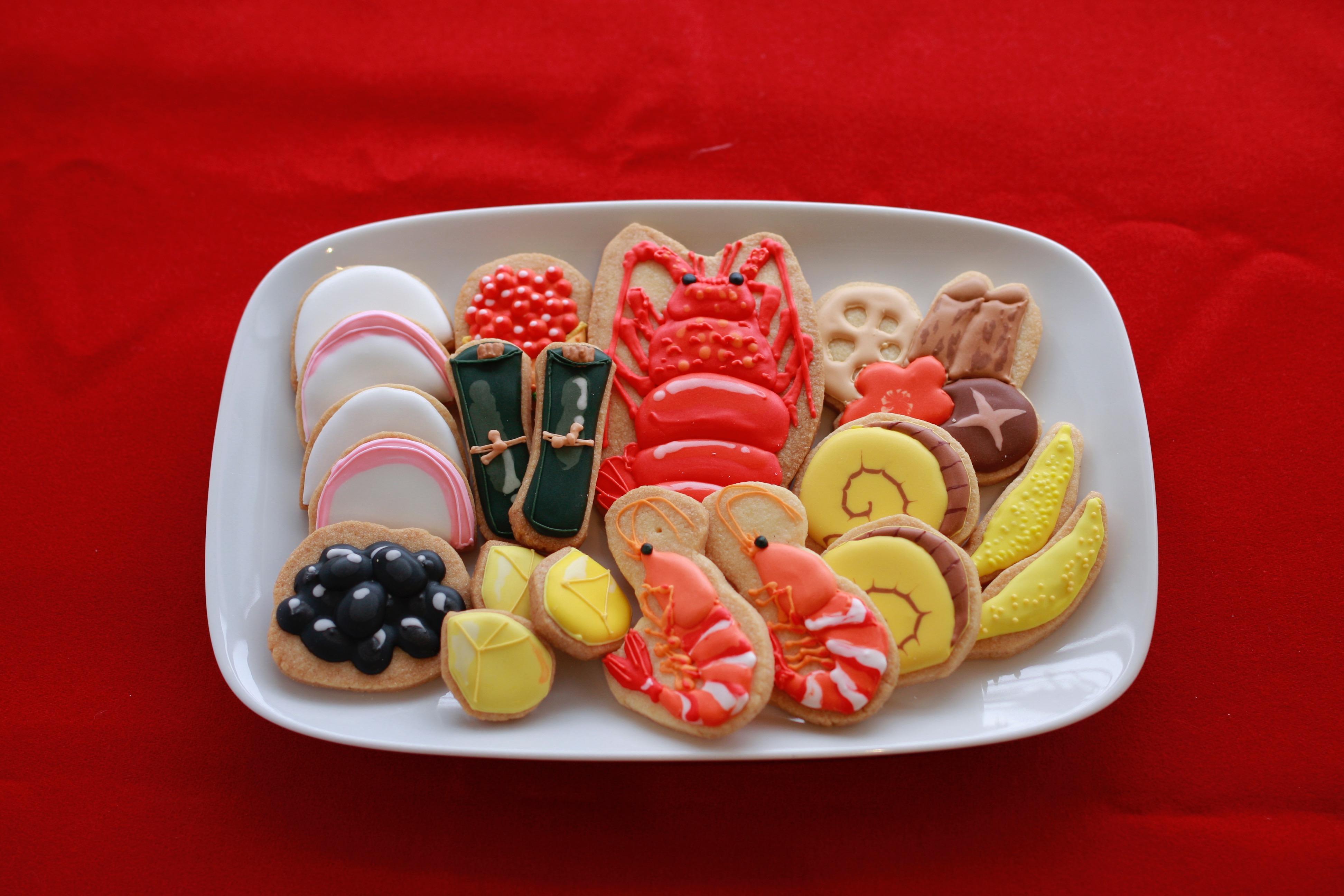 おせちのアイシングクッキー