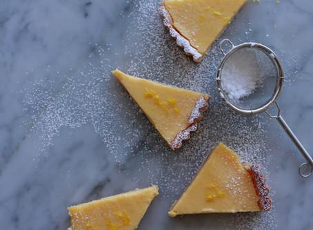Elderflower & Lemon Curd Tart エルダーフラワーとレモンのタルト