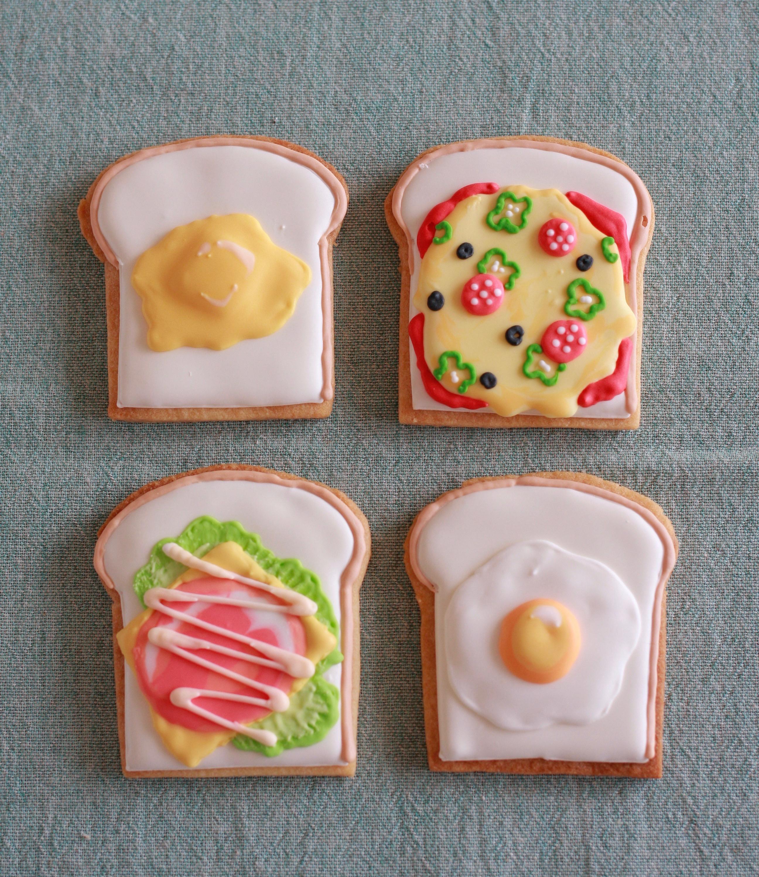 オープンサンドアイシングクッキー