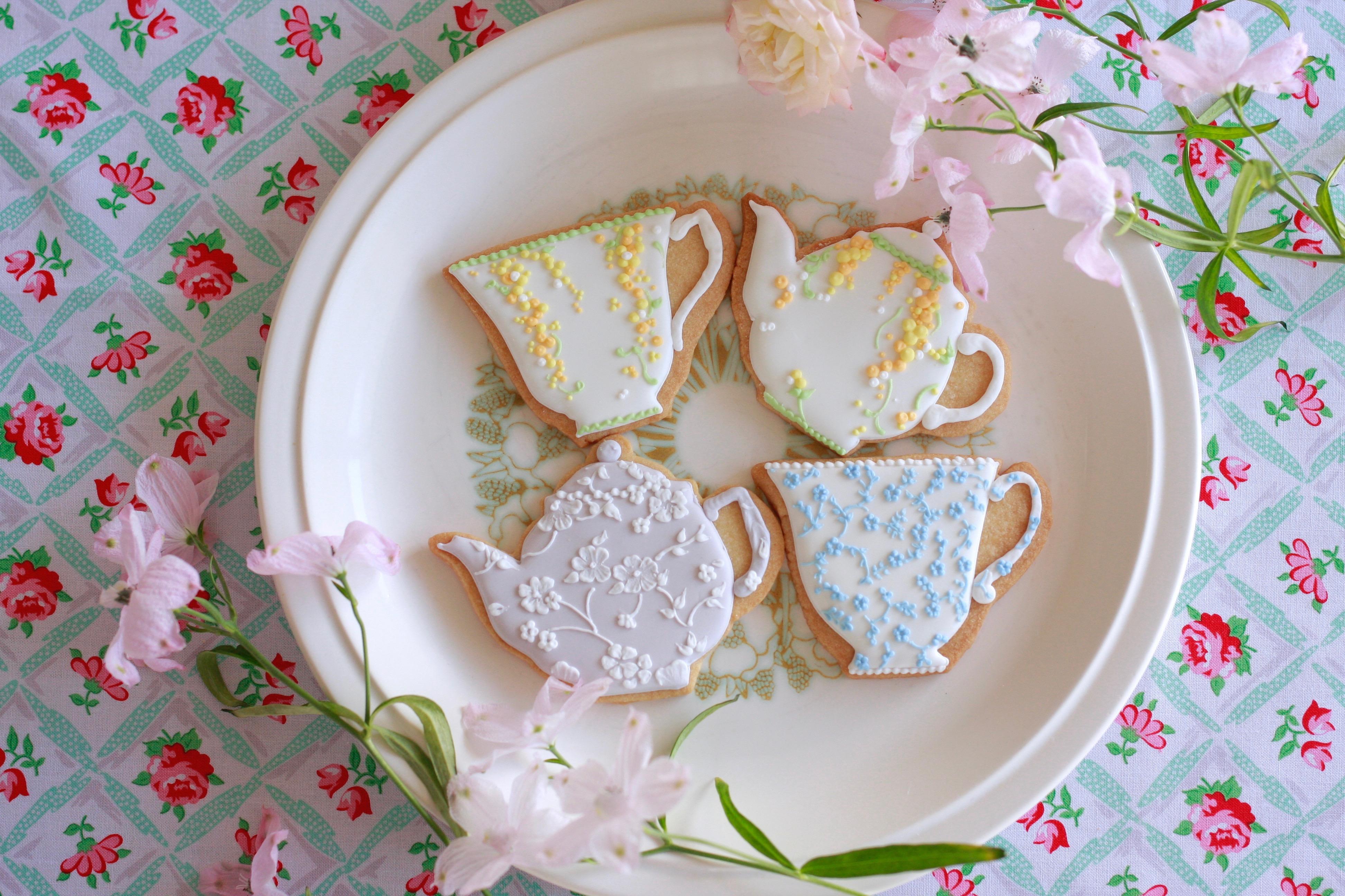 ティーカップ&ポットのアイシングクッキー