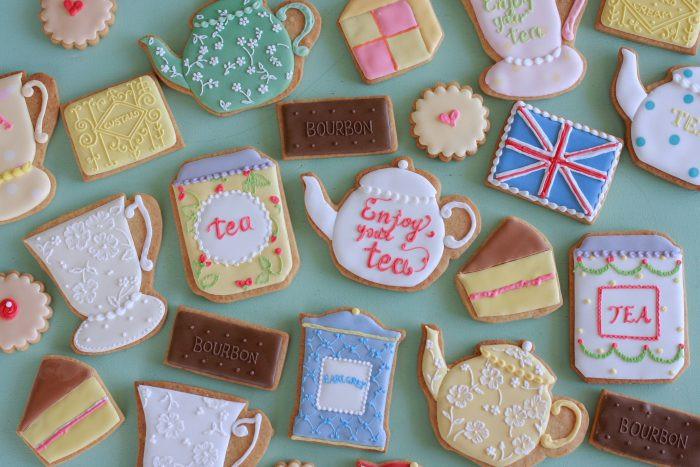 紅茶モチーフアイシングクッキー