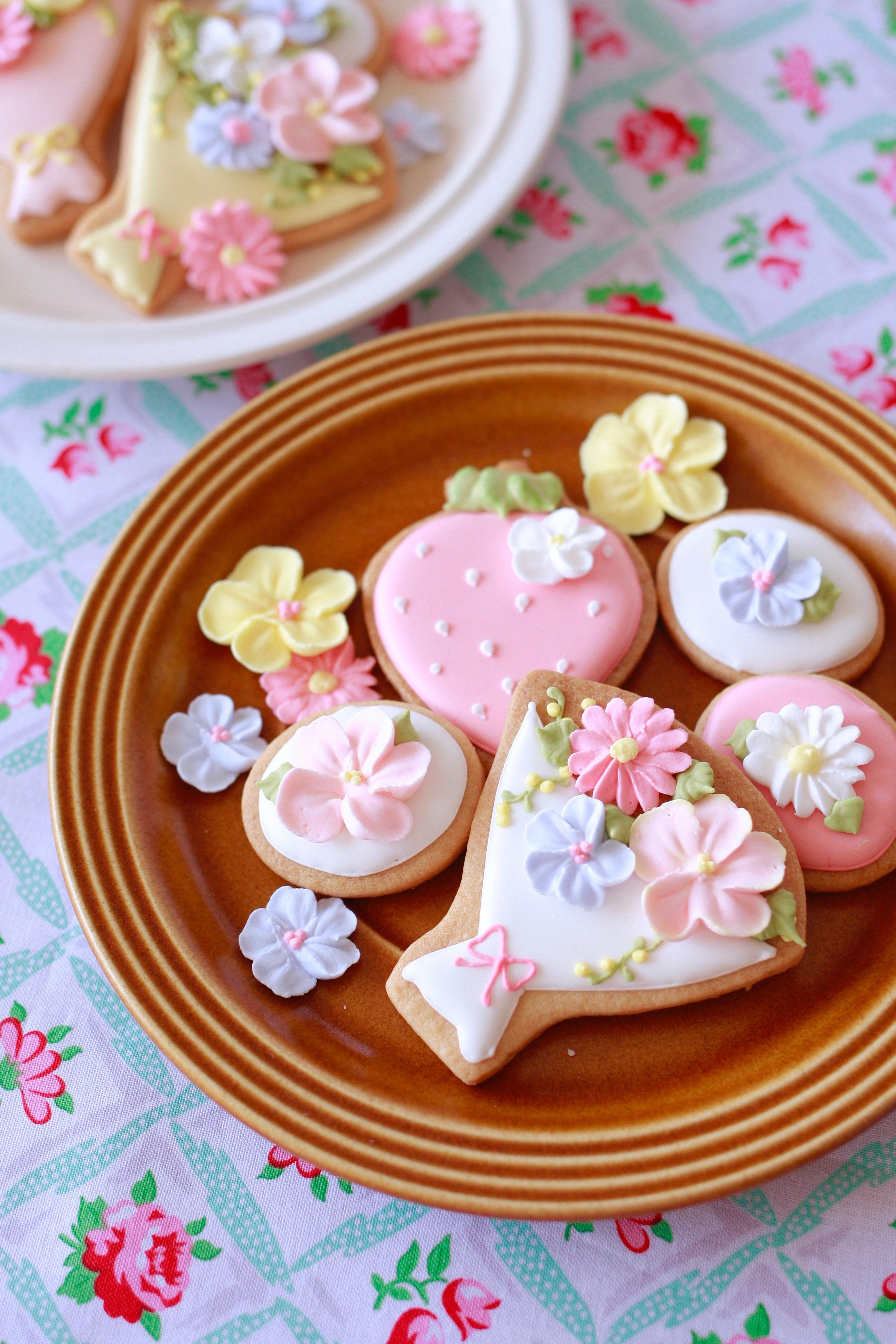 花束のアイシングクッキー