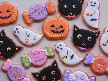 ハロウィンのアイシングクッキー販売のお知らせ
