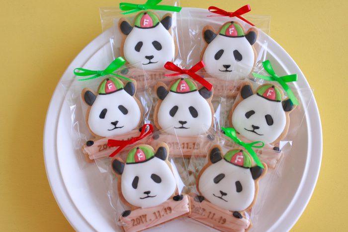 パンダのアイシングクッキー