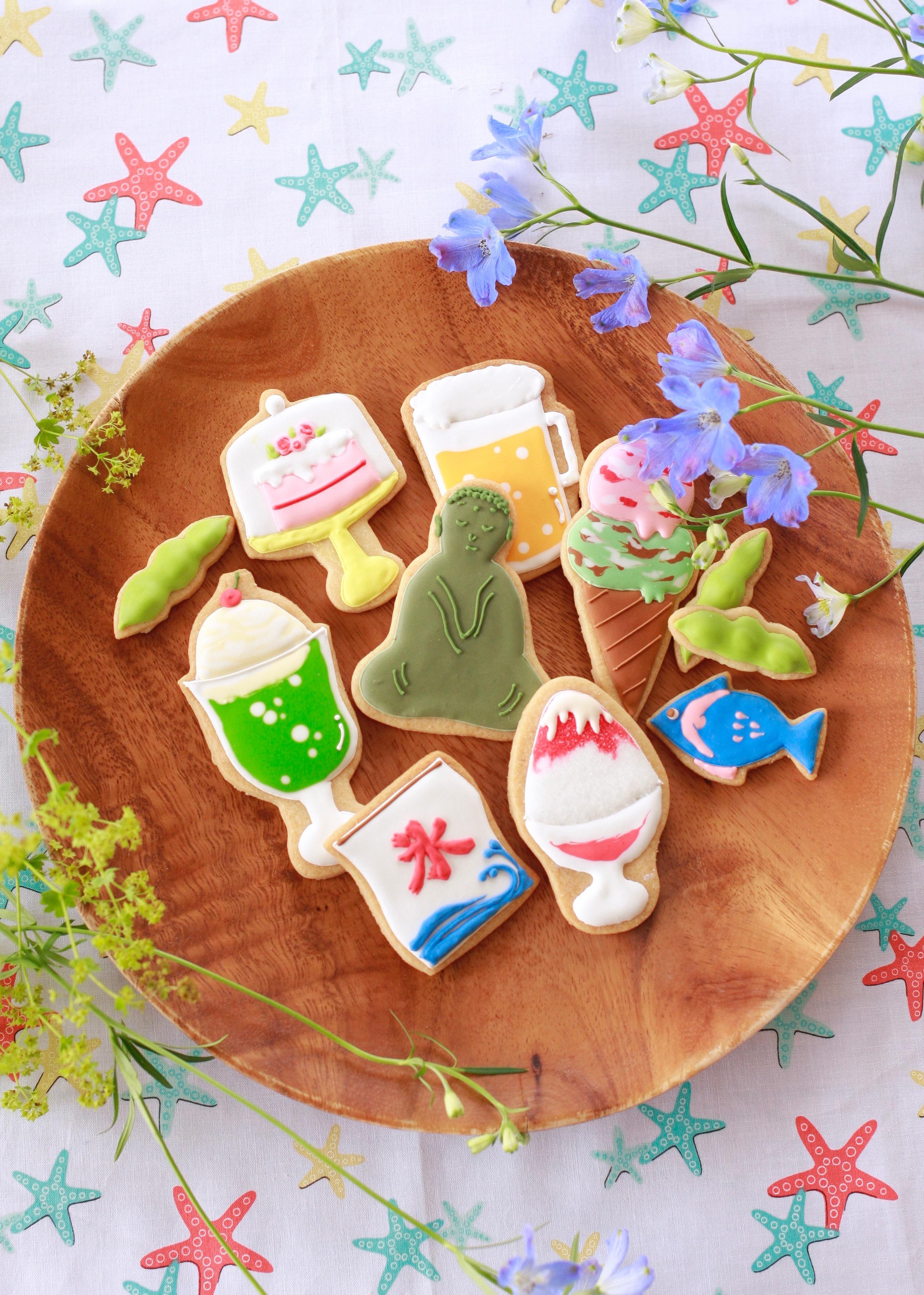 夏のアイシングクッキー